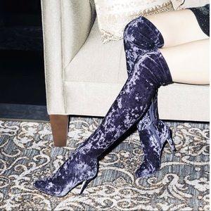 d24e1c78ed0 Jimmy Choo Shoes - Jimmy Choo Toni Over-The-Knee Stretch-Velvet Boots